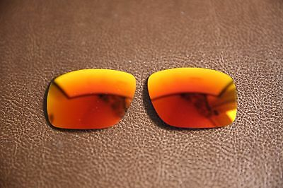 LensToday Fire Red Iridium Polarized Replacement Lens to fit-Oakley Holbrook