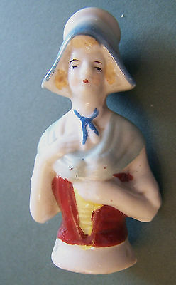 Vintage Foreign Half Doll Dutch Lady