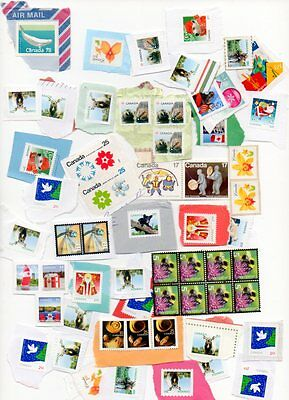 $173.76 plus 10 p CANADA STAMPS UNFRANKED ALL ON PAPER
