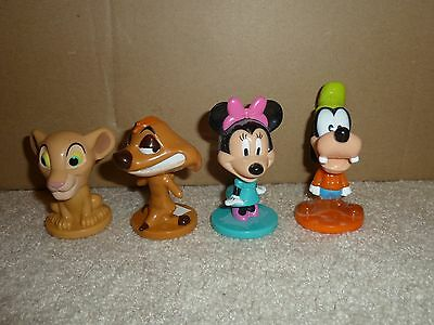 4 Kellogg's Cereal Disney's Bobble Heads Hard To Find Rare (SEE Photo's) opened