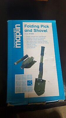 Maplin brand minCompact Folding Shovel and Pick with Carry Case Pouch NEW.