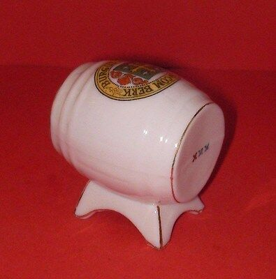 Arcadian Crested China   Barrel  ABINGDON Crest