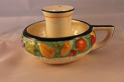 Lancaster & Sons Pottery Night Light Candle Holder Hand Painted Retro Vintage