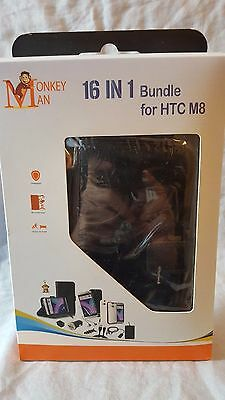 16 In 1 Accessories Bundle For HTC M8 Cell Phone New Free Shipping