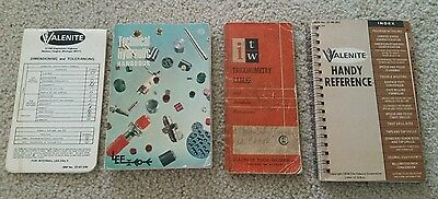 Vintage Machinist Handbooks and Reference Books (ITW, Valenite, & The Lee Co.)