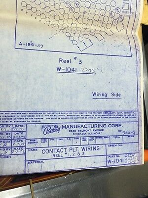 Bally Manufacturing #952-C Contact Plate Wiring Schematic