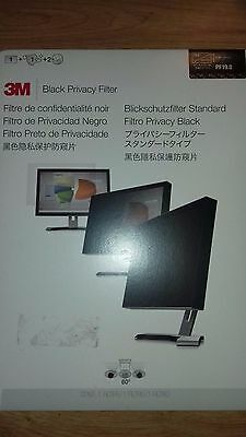 "3M 19.5"" Black Privacy Filter Pf19.5W9 Widescreen Computer Screen"
