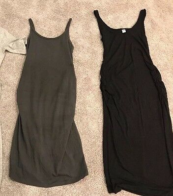 Lot of 2 Old Navy Tank Maternity Bodycon Dresses, Size XS