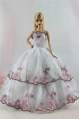 Fashion Princess Party Dress/Evening Clothes/Gown For Barbie Doll S357