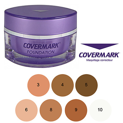 Covermark Fondotinta #3 #4 #5 #6 #8 #9 #10 Foundation Waterproof Impermeable