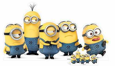 Mischievous Minions Group Pose with Mini Cardboard Cutout / Stand up Minions