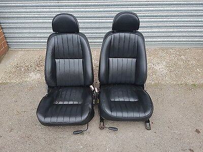 Pair Of Black Leather MK1 MGF Seats