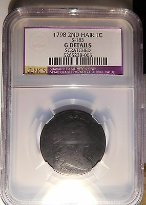 1798 Draped Bust Cent S-183 R-5