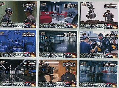 Captain America Civil War Complete Hollywood Magic Chase Card Set HM1-15