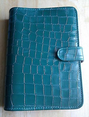 Green Alligator Skin PU Leather Business Multi-Function A5 – 6 Ring Organizer