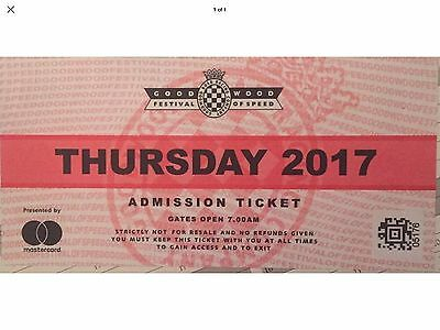 Goodwood Festival Of Speed Ticket For Thursday