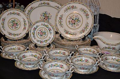 Royal Doulton Reflection Vintage China 6 x Dinner & Side Plates Tureen 50/60s