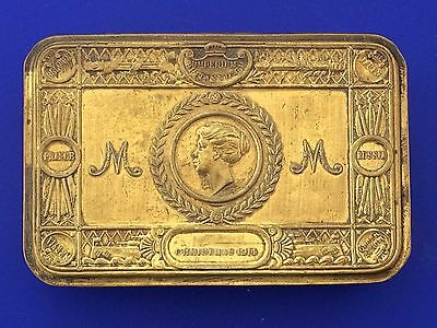 Ww1 Queen Mary Gift To Troops Christmas 1914 Brass Tobacco/sweet  Tin. U.k.
