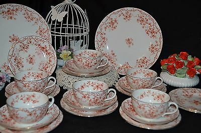 Antique Birks China 20pc  Cups Saucers Sides Tea Set Vintage Wedding Tea Parties