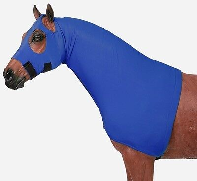 Tough-1 Fleece Lined Mane Stay Hood Large Royal Blue