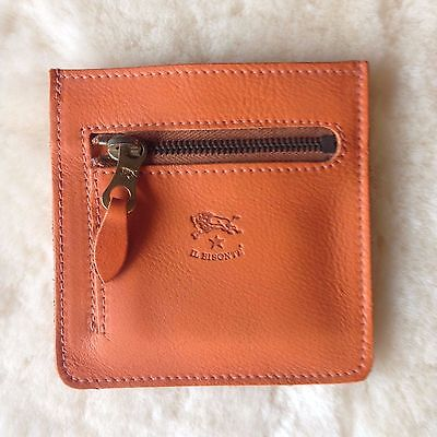 Leather Coin & Card Holder/Case/Wallet (UNISEX) by IL BISONTE
