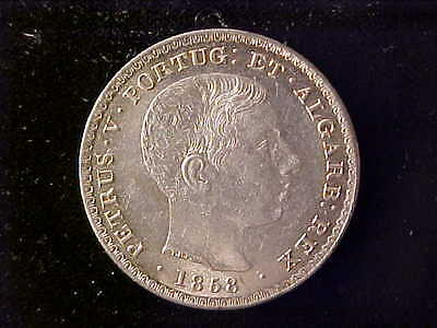 Portugal 500 Reis 1858 Bu Or Nearly So
