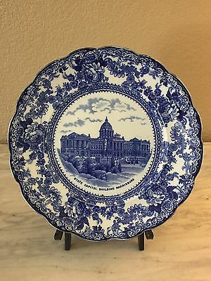 State Capital Building Harrisburg Flow Blue Plate TOGO Colonial Pottery