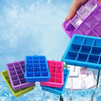 15 Cavities Durable Silicone Mold Tool Jelly Ice Cubes Tray Pudding Mould