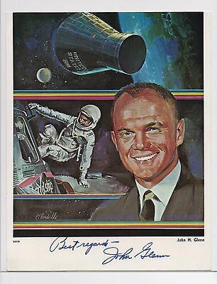 JOHN GLENN signed 8x10 photo AUTOGRAPH Senator Astronaut Military NASA