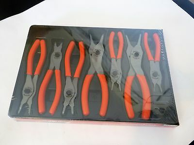 New Snap-On 7 pc Convertible Orange Snap Ring Pliers Set, SRPC107AO