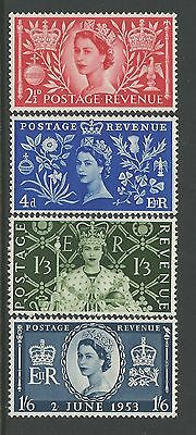 GREAT BRITAIN stamps #313-316 1953 Coronation XF MINT nh cv $16.35