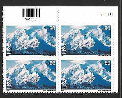 US Stamp #C137 Mt. McKinley Airmail Plate Block MINT nh $6.40