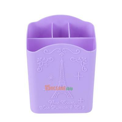 Plastic 4 Compartment Nail Art Tool Box Makeup Storage Holder Nail Pen Container