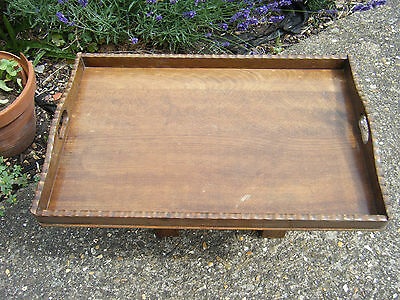 Vintage Large Wood Butlers Tray