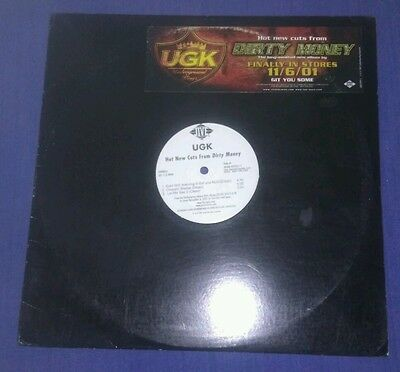 "Mega Rare 12"" Promo Single By  Ugk  2001.   'hot New Cuts From Dirty Money.'  Ex"