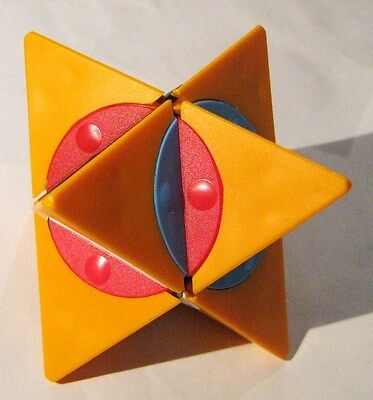 Rare Vintage Hungarian Twisty Puzzle from 80s: Dino Star Orange Base Color