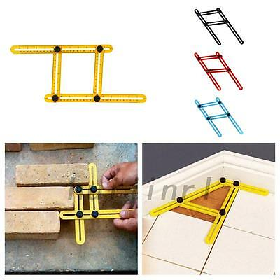 Multifunctional Plastic Four-Sided Folding Measuring Tool Multi-Angle Ruler Home