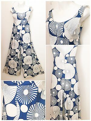 DEADSTOCK 70s abstract psychedelic hippy Pallazzo Jumpsuit prop beach playsuit
