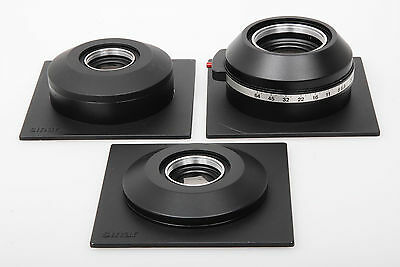 3 x Sinar DB lens conversion panels (for Sinaron-W, WS, SE)