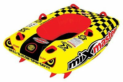 "SportsStuff Mixmaster 1 Rider Towable Action Tube 62"" x 38"" Covered Inflatable"