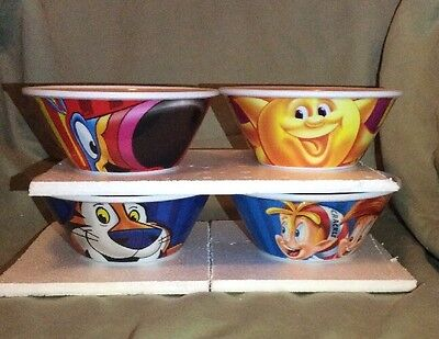 Brand New 2016 Kellogg's Collectible Character Cereal Bowls Set Of 4 2nd Edition