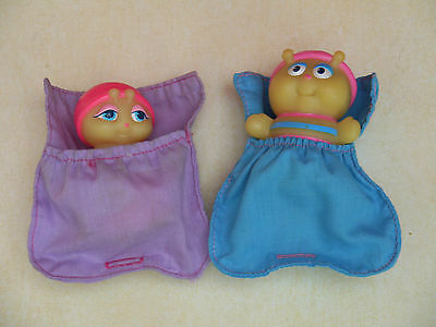 Vintage Glo Bugs Glo Friends With Sleeping Bags.. Glo & Glo Bashful Wendys 1989
