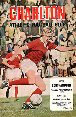 1976/77 Charlton Athletic v Southampton, League Cup, PERFECT CONDITION