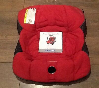 Genuine MAXI COSI Cabriofix Replacement Spare COVER Car Seat Red Plus Manual
