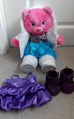 Build a Bear cute Pink cat with 2 outfits