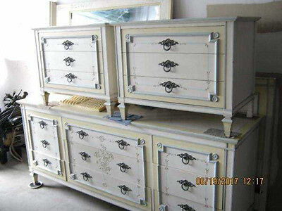 John Widdicomb King Size Bedroom Set French Provincial Country Farmhouse