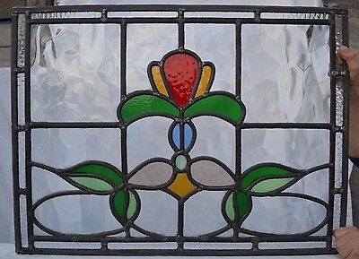 Leaded light stained glass window panel for above door R567. WORLDWIDE DELIVERY!