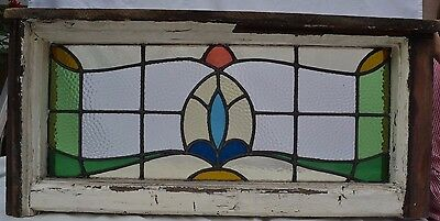 Leaded light stained glass window for above door R570b. WORLDWIDE DELIVERY!