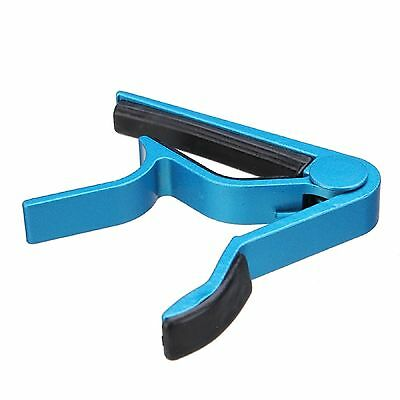 Trigger Quick Change Key Clamp Capo For Acoustic Electric Classic Guitar BLUE