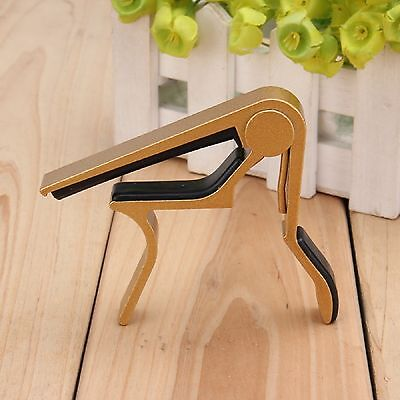 Trigger Quick Change Key Clamp Capo For Acoustic Electric Classic Guitar GOLD